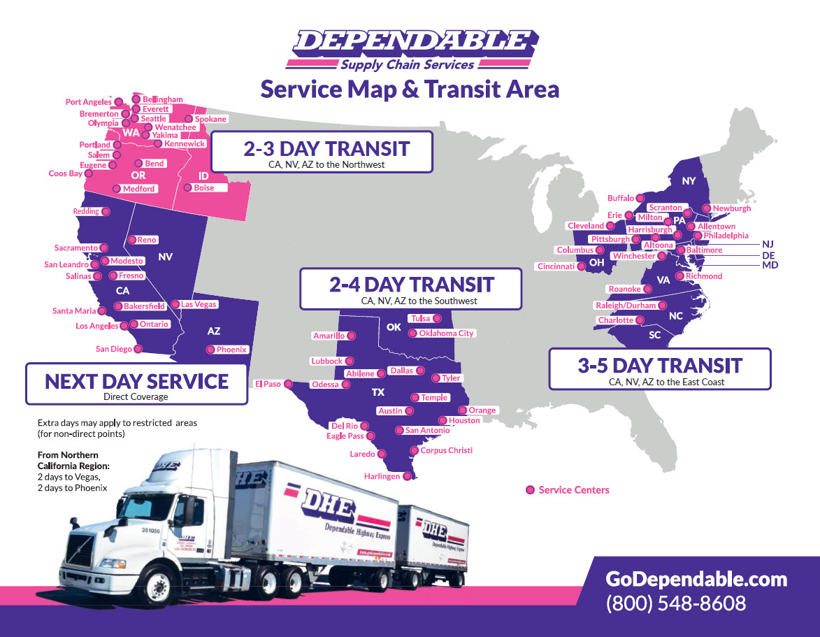 Dependable Full Service Map